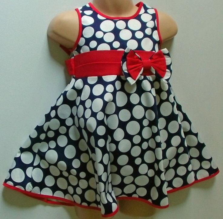 This beautiful Girl's Bold Polka Dot Design Dress now available at www.kidzownchildrenswear.co.uk  One of our Best Sellers Only £15.99