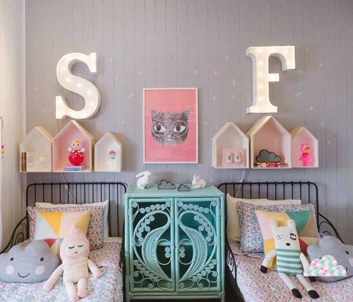 Comodoos Interiores -Tu blog de Decoracion-: Habitacion infantil con un toque vintage. Un espacio divertido para Sybilla