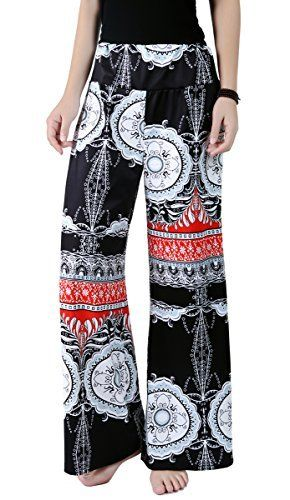 New Trending Pants: Womens Damask High Waist Printed Wide Leg Palazzo Pants(XL,Black). Women's Damask High Waist Printed Wide Leg Palazzo Pants(XL,Black)   Special Offer: $17.90      299 Reviews Description Printed palazzo pants are very fashionable and fun, and back in a big way this season! Made from a lightweight blend of polyester and spandex, Soft and convenient...