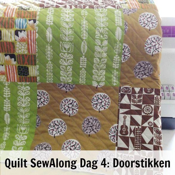 By MiekK - Easy Quilt SewAlong Dag 4: Het doorstikken van de Quilt