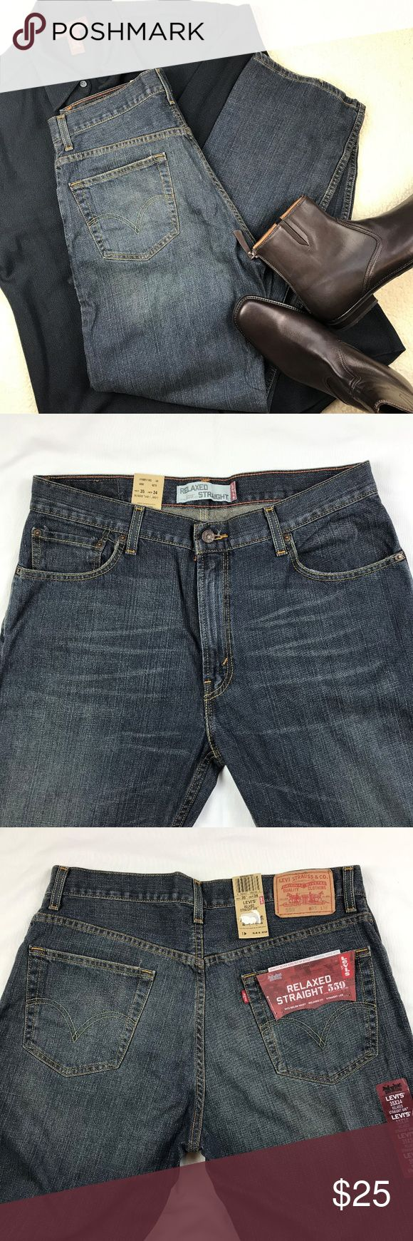 Men's Levi's 559 Relaxed Straigth Jeans, W35 Brand new Levi's 559 jeans, size W35 L34. Jeans sits below waist, relaxed fit with straight leg. Color name is Range. Levi's Jeans Relaxed