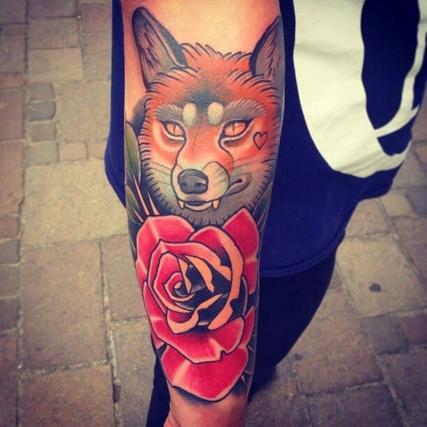 #Tatto #neotradicional #Fox