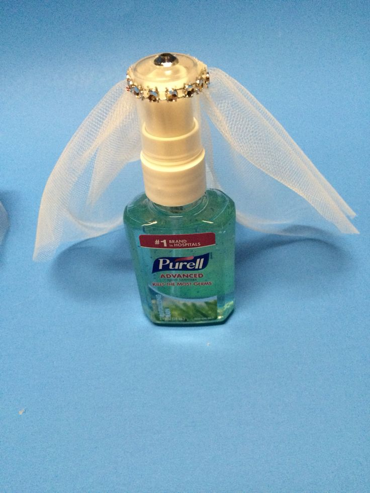 Cute travel theme bridal shower guest favor hand for Hand sanitizer bridal shower favors