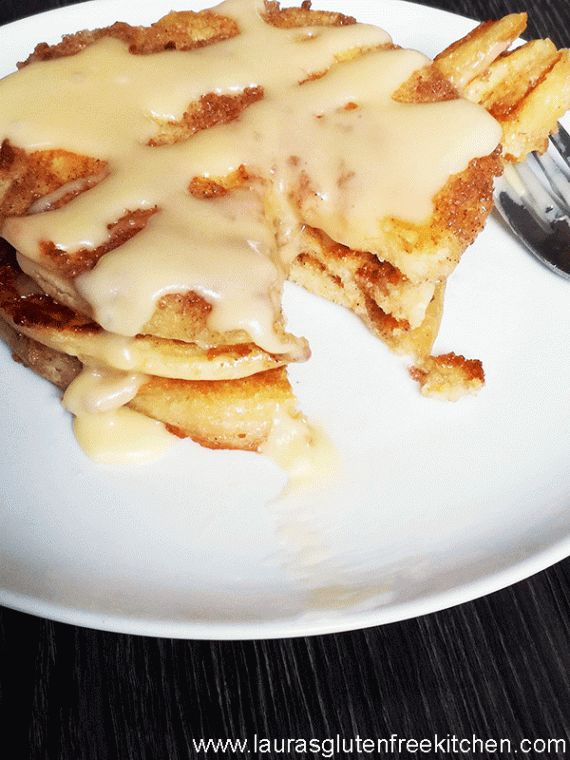 Gluten free cinnamon swirl pancakes ---- If you've ever thought you needed a reason to eat pancakes, today is the day: National Pancake Day! Eat a short stack for breakfast, enjoy them for lunch, or make a dinner out a manhole-sized pancake
