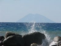 View from Calabria to the famous vulcano Stromboli