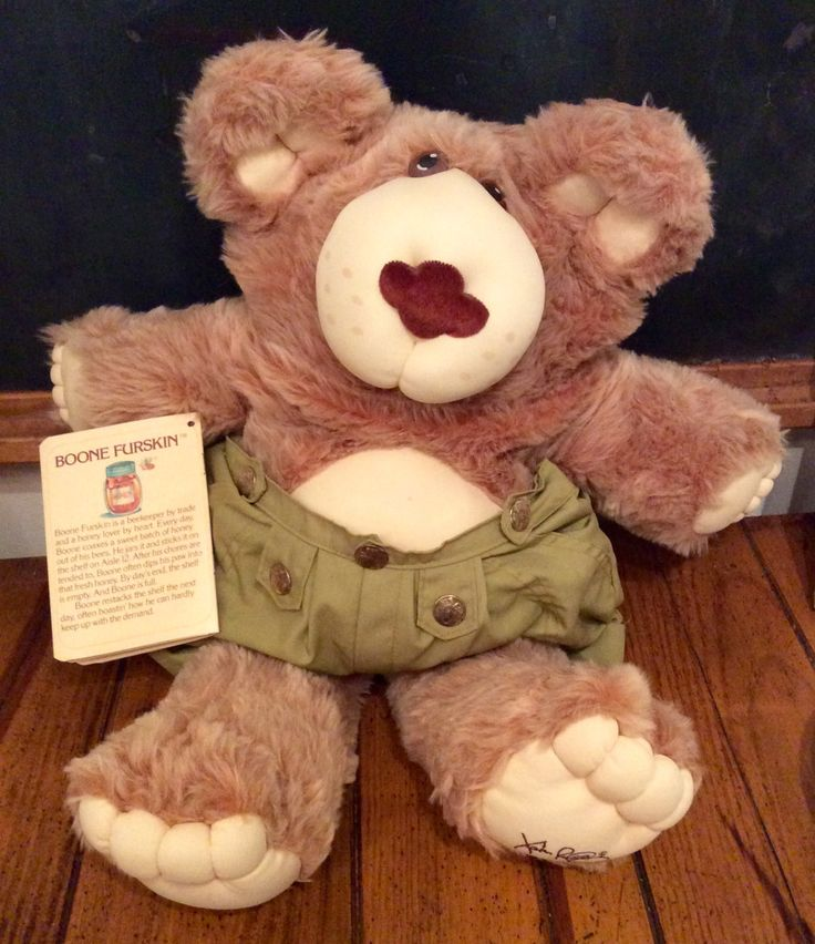 """1985 Coleco """"Boone"""" Furskin Plush Doll, Cabbage Patch Kids Furskins, Cabbage Patch Kids Bear, Boone Furskin, Xavier Roberts Furskins, CPK by Lalecreations on Etsy"""