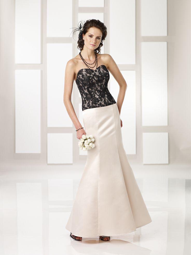 Sweetheart trumpet/mermaid satin bridesmaid gown