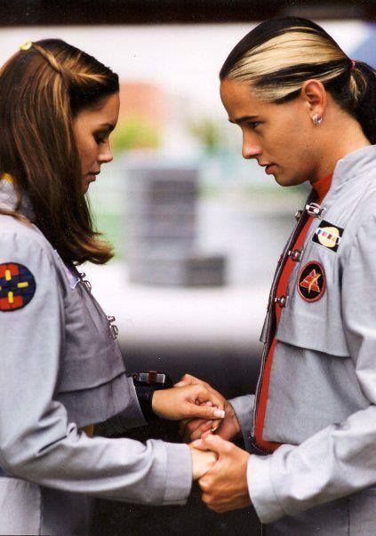 Power Rangers in Space (1998). Ashley and Andros.