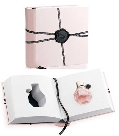 fpackaging like a book for parfume of VIKTOR & ROLF