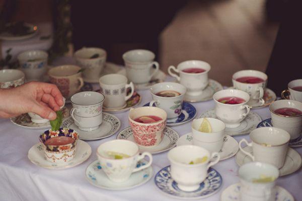 DIY Village Fete Wedding Vintage Tea Cups http://www.rebeccadouglas.co.uk/blog/