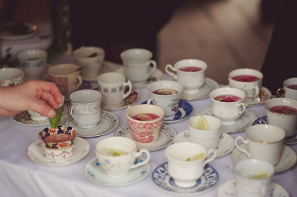 DIY Village Fete Wedding Vintage Tea Cups http://www.rebeccadouglas.co.uk/blog/