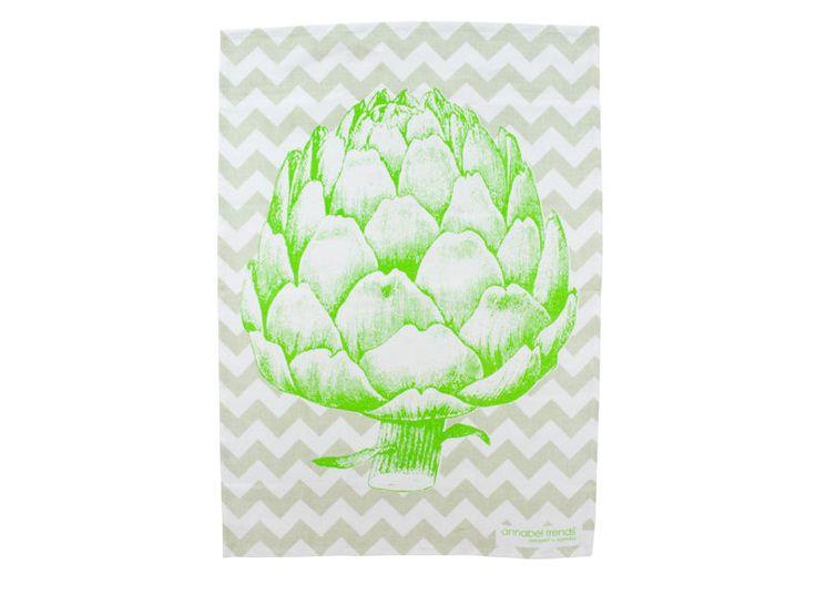 Artichoke Linen Tea Towel Super Absorbent Annabel Trends Quality Australia New