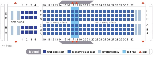 Delta Airlines Boeing 737 800 Jet Seating Map Aircraft