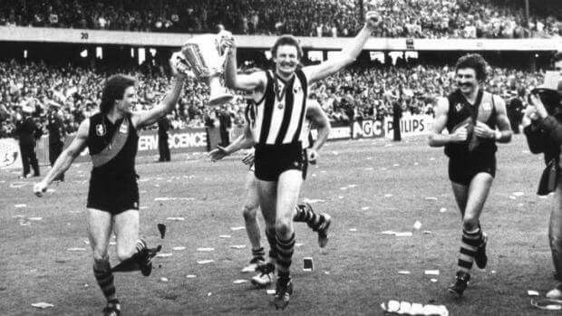 1980 grand final, Richmond defeat Collingwood 159 to 78 in front of 113,000 people.  The great Michael Roach (unfortunately) swapped his Richmond jumper.