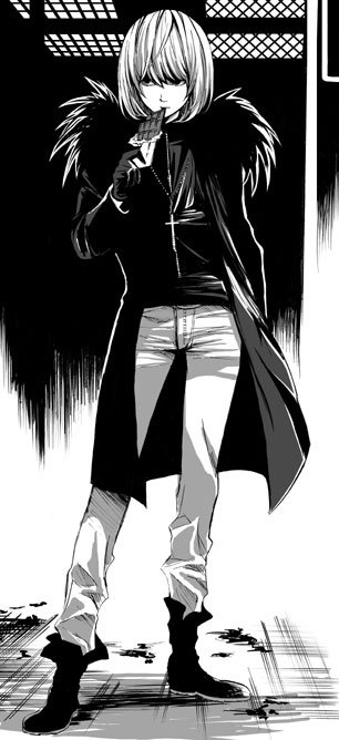 I know I pinned this before, but this has to be the best manga fan made picture ever! I mean, Mello just looks so awesome! XD <== his clothes remind me of ryuk.