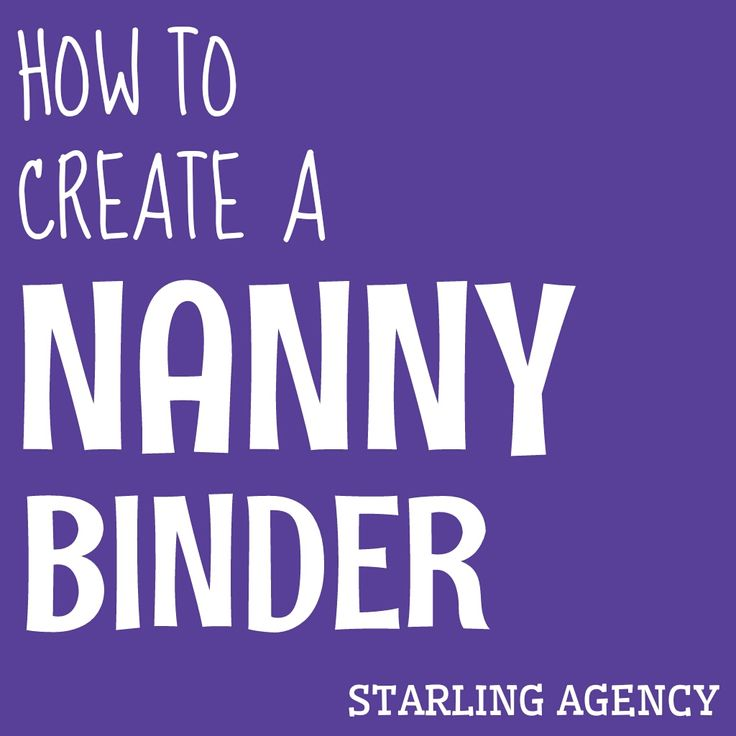 How to create a nanny binder #nannylife #nanny