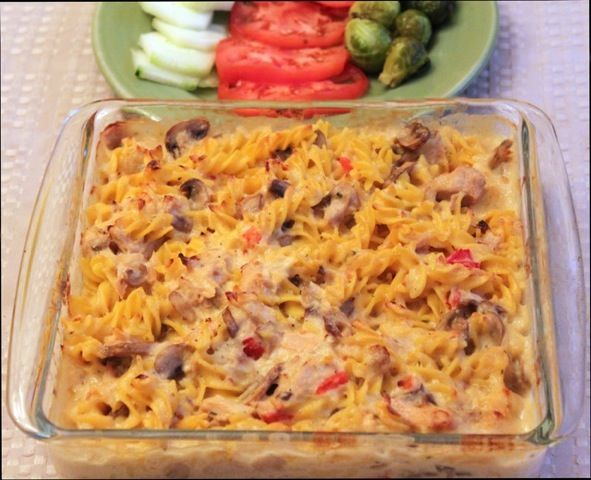 recipe featuring gluten free tuna noodle casserole that only takes a few more minutes to make than the condensed-soup kind.