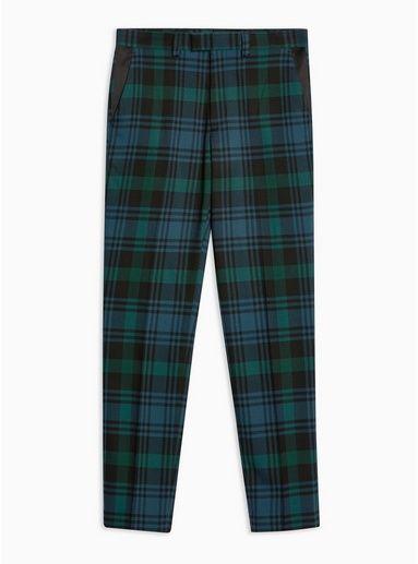 2bfc69c90792 Burgundy Check Skinny Pants - Pants - Clothing - TOPMAN USA