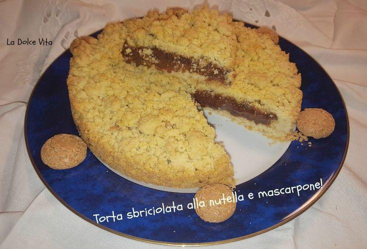 #Torta sbriciolata alla #nutella con #mascarpone!