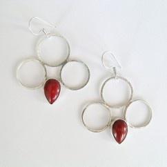 Halkalı mercan küpe - #tasarim #tarz #gumus #rengi #moda #hediye #ozel #nishmoda #silver #colored #design #designer #fashion #trend #gift