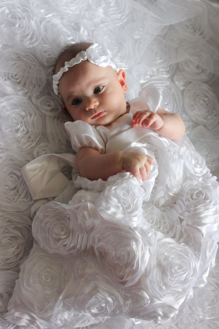 Custom Handmade White Baby Baptism Dress A Symbol