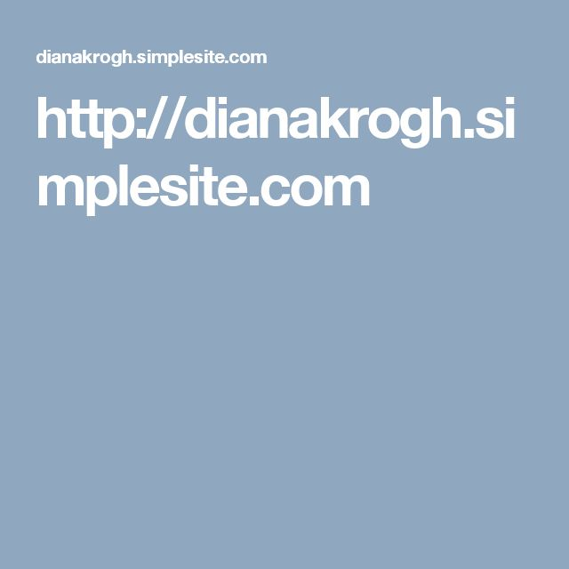 http://dianakrogh.simplesite.com