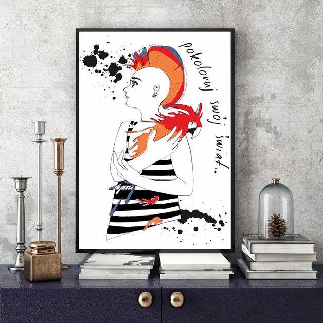 Ilustracja na ścianę.  SZCZEGÓŁY: - papier Poster Gloss 200g. - opakowana w przeźroczystą folię chroniącą przed zabrudzeniem - format: 30x40 cm. - bez oprawy - możliwe jest zamówienie tej...