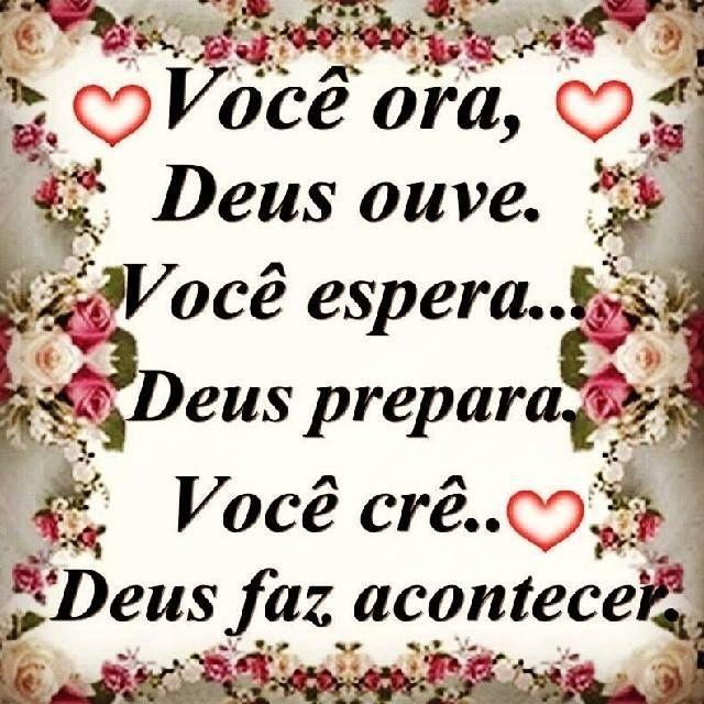 Você ora, Deus ouve. Você espera... Deus prepara #Deus_Abencoe_Voce #Abencoe #Deus