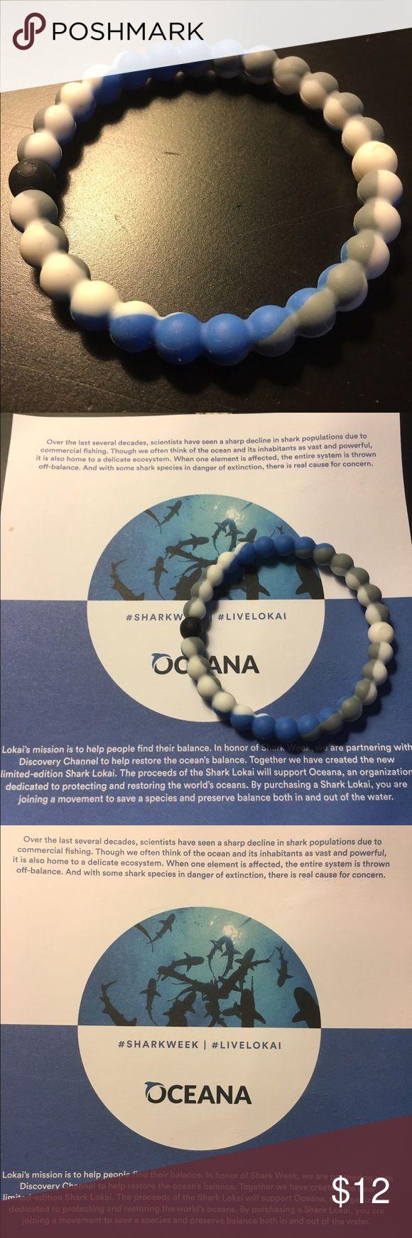 Oceana Shark week Lokai bracelet. Medium. Oceana Shark week Lokai bracelet. Medium. Bought it for my husband, it's too small. Lokai Jewelry Bracelets