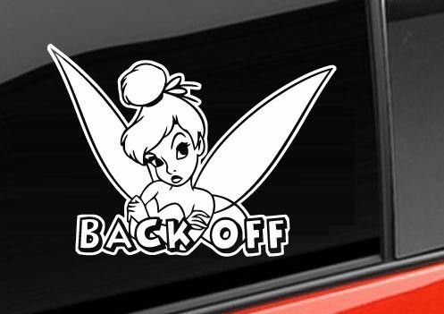 Tinker Bell Back Off Stickers For Cars Jpeg Stickers For