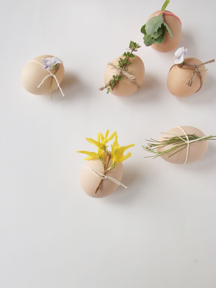 a daily something: diy | decorated eggs with flowers