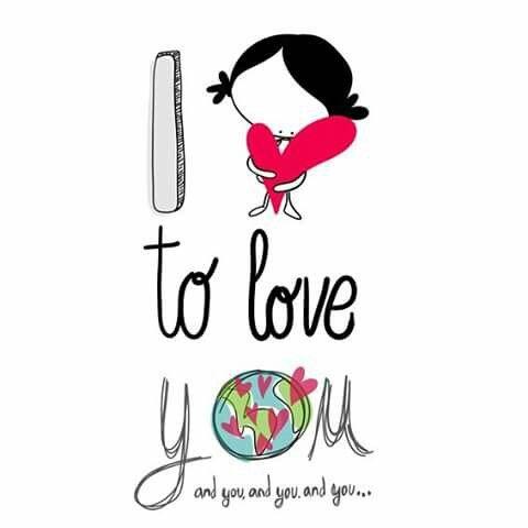Mi corazón está tan lleno de tí... y de tí, y de tí y de tíiiii. I love to love you and you and you and.... #EeeegunonMundo!!
