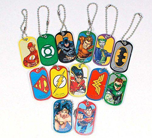 DC Comics Justice League Dog Tag Key Chains - Complete Set of 13 - Features Superman, Wonder Woman, Batman, Green Lantern, The Flash and More DC Comics http://www.amazon.com/dp/B00OU0REAU/ref=cm_sw_r_pi_dp_VBWJub17EA174