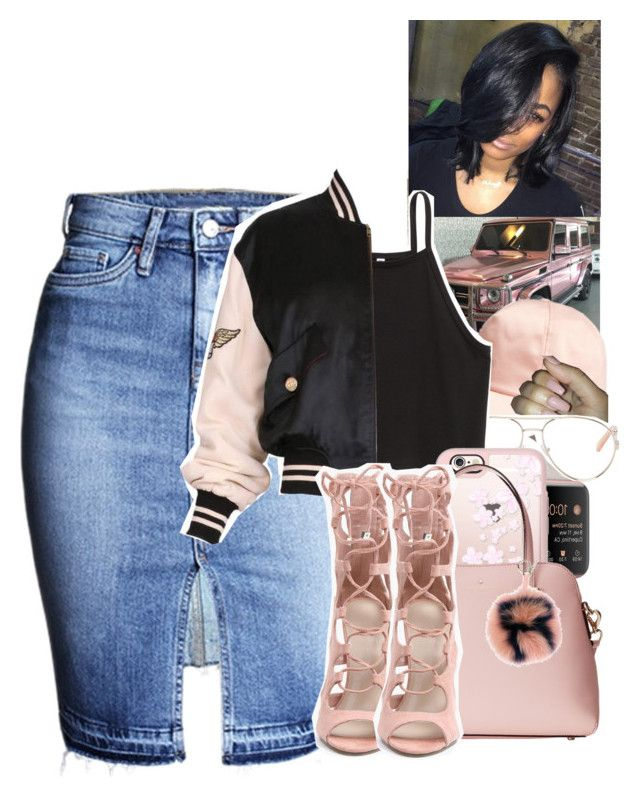 """Untitled #1540"" by toniiiiiiiiiiiiiii ❤ liked on Polyvore featuring H&M, Chloé, Moschino, Casetify, Kate Spade and Fendi"