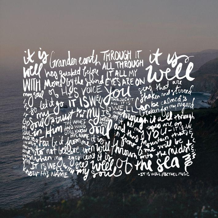 Lyric it is well with my soul lyrics hillsong : 36 best Song lyrics images on Pinterest | Bethel music, Scripture ...