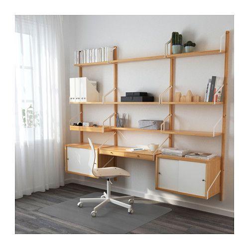 SVALNÄS Väggmonterad skrivbordskombination - IKEA