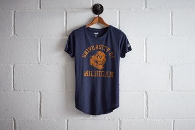 Tailgate Women's Michigan T-Shirt by  American Eagle Outfitters | At a capacity of over 100k, the Wolverines play in the largest football stadium in the nation. Plus, they boast the most overall wins in NCAA history and won the very first Rose Bowl.At a capacity of over 100k, the Wolverines play in the largest football stadium in the nation. Plus, they boast the most overall wins in NCAA history and won the very first Rose Bowl. Shop the Tailgate Women's Michigan T-Shirt and check out more…