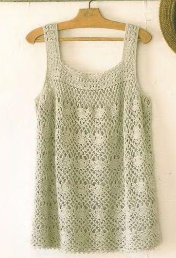 Crochet Top - Free Crochet Diagram - (fokti.yandex) ༺✿ƬⱤღ http://www.pinterest.com/teretegui/✿༻