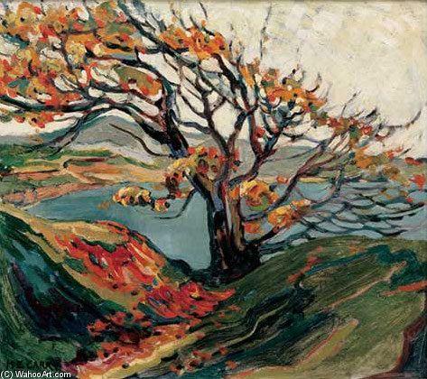 Arbre en automne de Emily Carr (1871-1945, Canada)