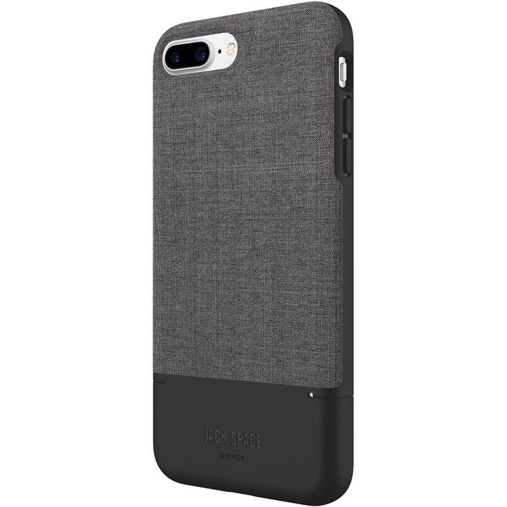Jack Spade - Case for Apple® iPhone® 7 Plus - Black/tech Oxford gray
