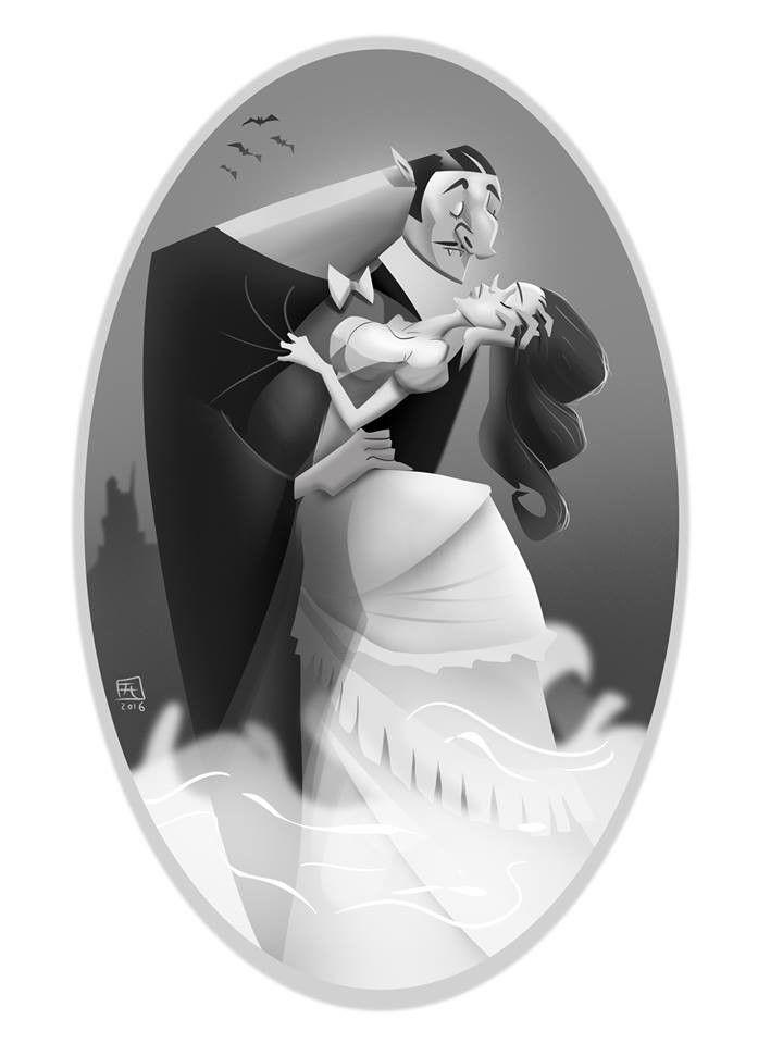 Kiss of Dracula, Hunor Fogarasi on ArtStation at https://www.artstation.com/artwork/AXg5m
