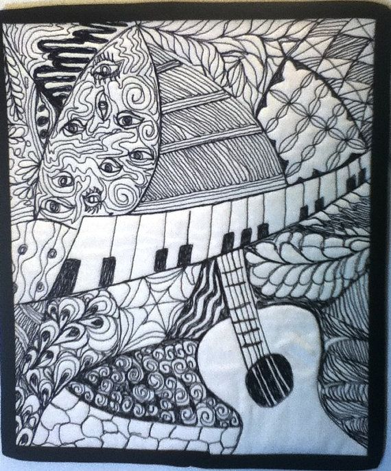 Amazing zentangle, awesome mini-quilt