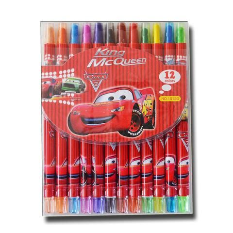 V204 - 15 cm Twistable Crayons - Cars - School Depot NZ