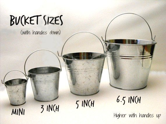 17 best images about rustic mediterranean wedding on for Galvanized metal buckets small
