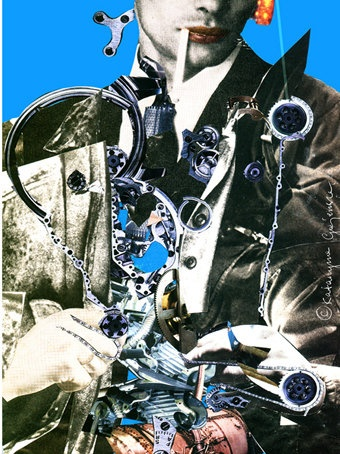 Mechanical Man, Vagina Monologues, limited edition fine art print, 70x57 or 30x24cm, katarinartist@gmail.com