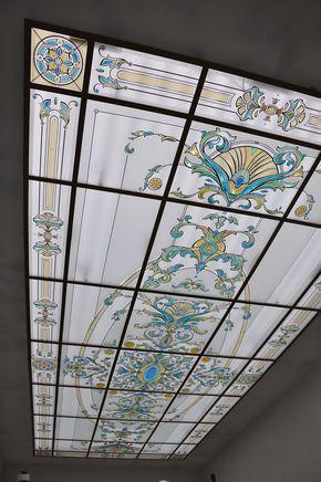 Подвесной потолок в загородном доме | Арт-Гласс - изготовление витражей
