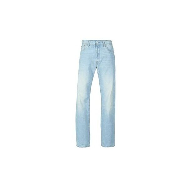 Levis 501 Jeans ($100) ❤ liked on Polyvore featuring men's fashion, men's clothing, men's jeans, blue, mens blue jeans and levi mens jeans