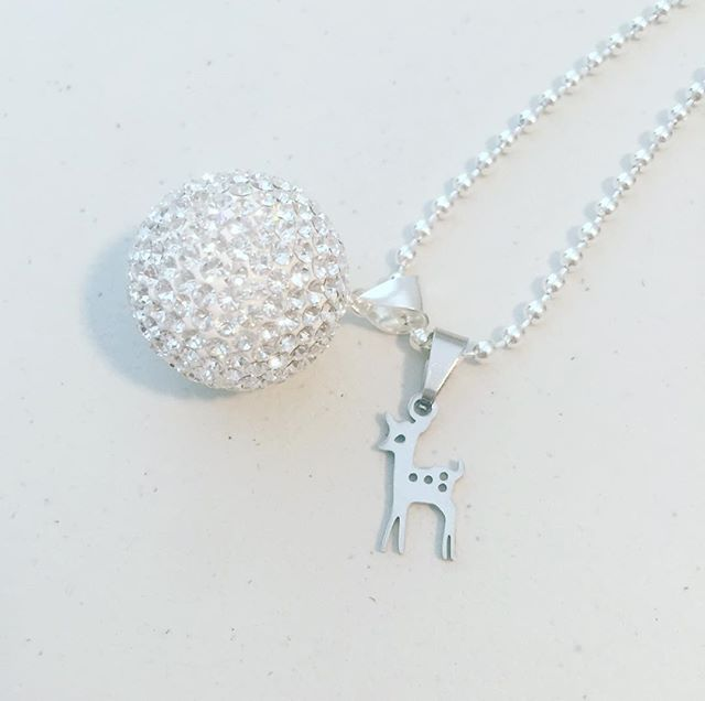 Lux Harmony chime ball pendant and bambino charm 💕