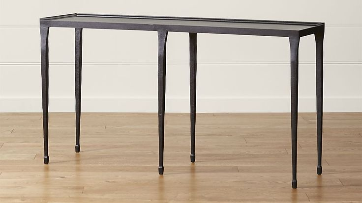 """Silviano 60"""" Console Table think would look good along long wall, could store things under or pull chairs under as an extra space"""