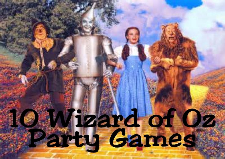 Wizard of Oz Party Game Ideas by Kims Kandy Kreations